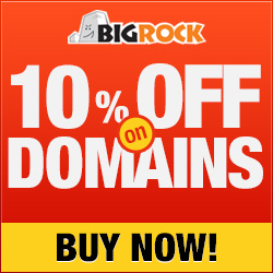 250x250 10 28% off on Shared Hosting & Reseller Hosting and 10% off on Domain Names from Bigrock. in, April 2014 offer