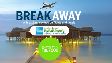 Goibibo - Get 10% discount on flight and 30% on Hotelbooking from goibibo. com for American Express Card users
