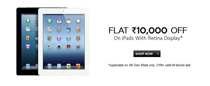 iPads with Retina Display - Flat Rs. 10,000 Off
