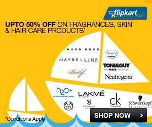 Upto 50% off on Fragrances, Skin and Hair Care Products at Flipkart. com, Flipkart May 2014 Discount offer valid till 31 May 2014