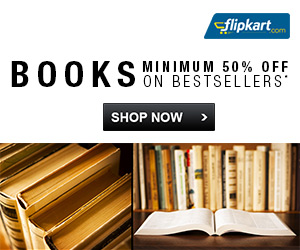 2 day Book Sale offer on Flipkart  Minimum 50% off on Best selling Books, Offer valid till 24 May 2014