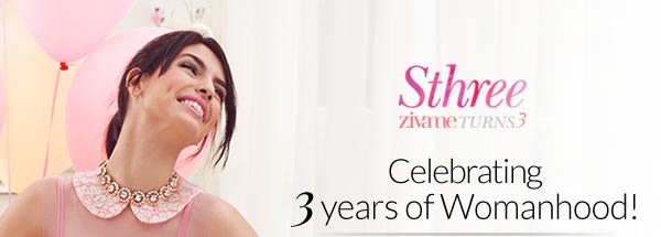 Celebrating 3 years of womanhood as Zivame turns 3!!! Buy 3 get 1 free at Zivame. com